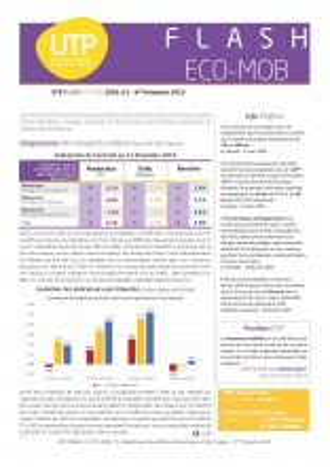 Flash ECO-MOB du 4ème trimestre 2019